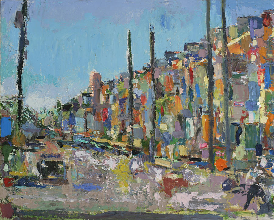 Abstract Paintings Painting - The Marrakesh Express by David Zimmerman