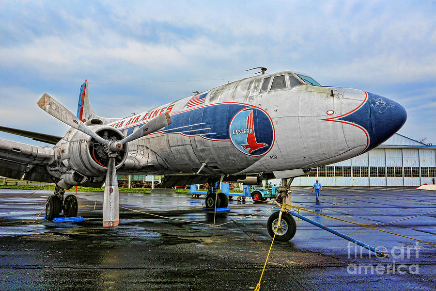 Prop Plane Photograph - The Martin 404 - Eastern Airlines by Lee Dos Santos