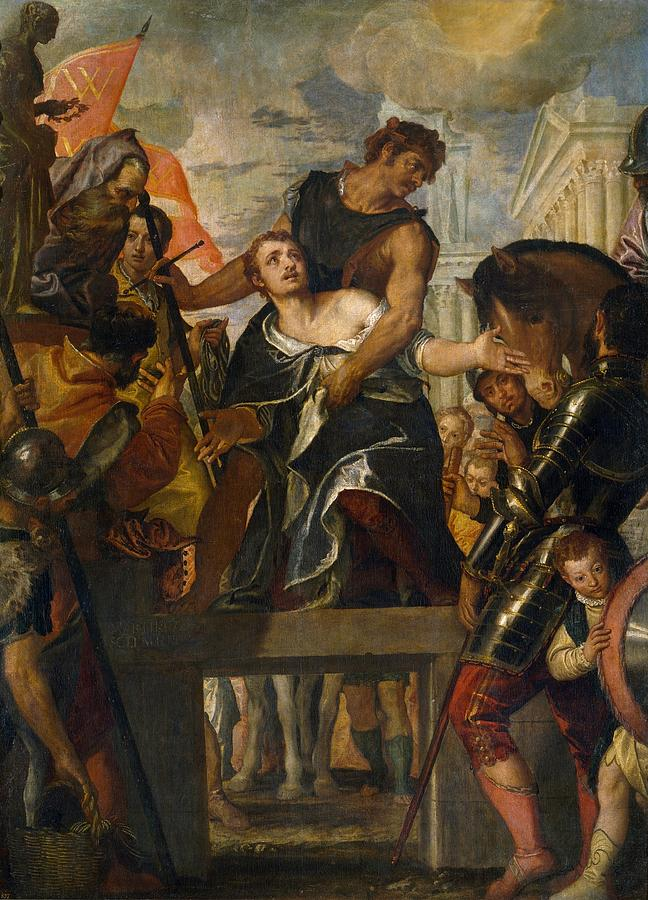 Cinquecento Painting - The Martyrdom Of Saint Mena by Paolo Veronese