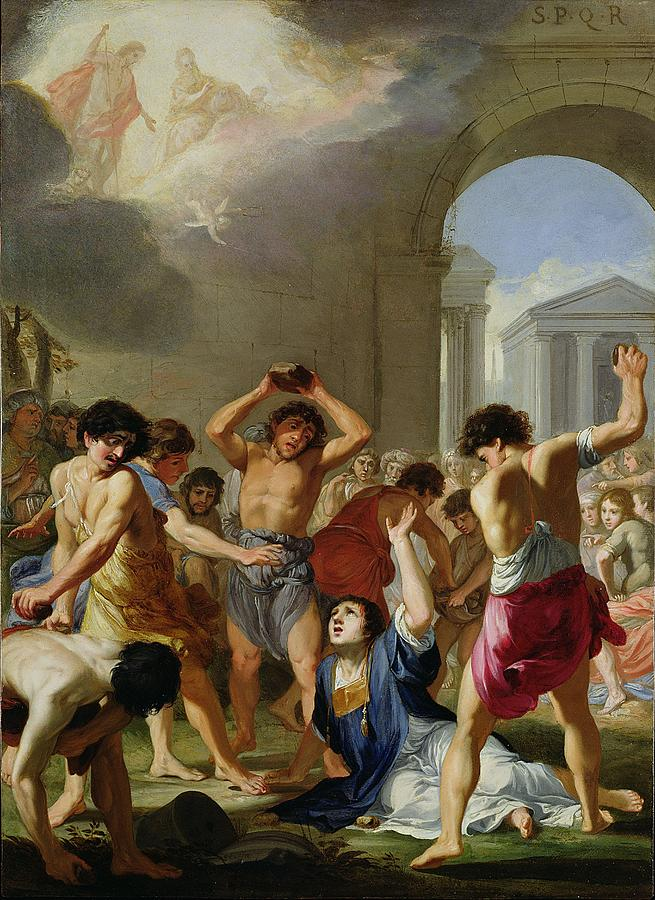 The Martyrdom Of St Stephen C 1623 Painting By Jacques