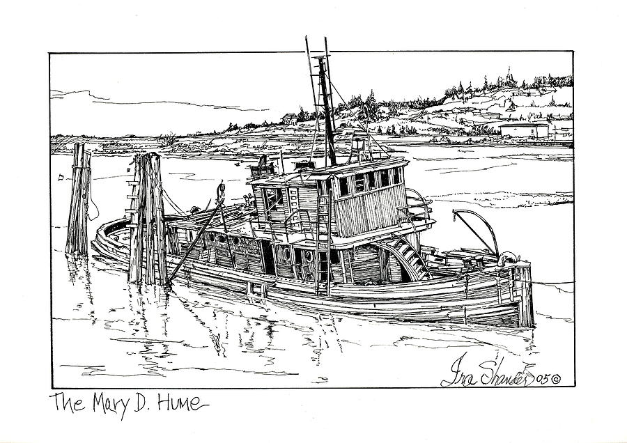 Pacific North West Drawing - The Mary D. Hume by Ira Shander