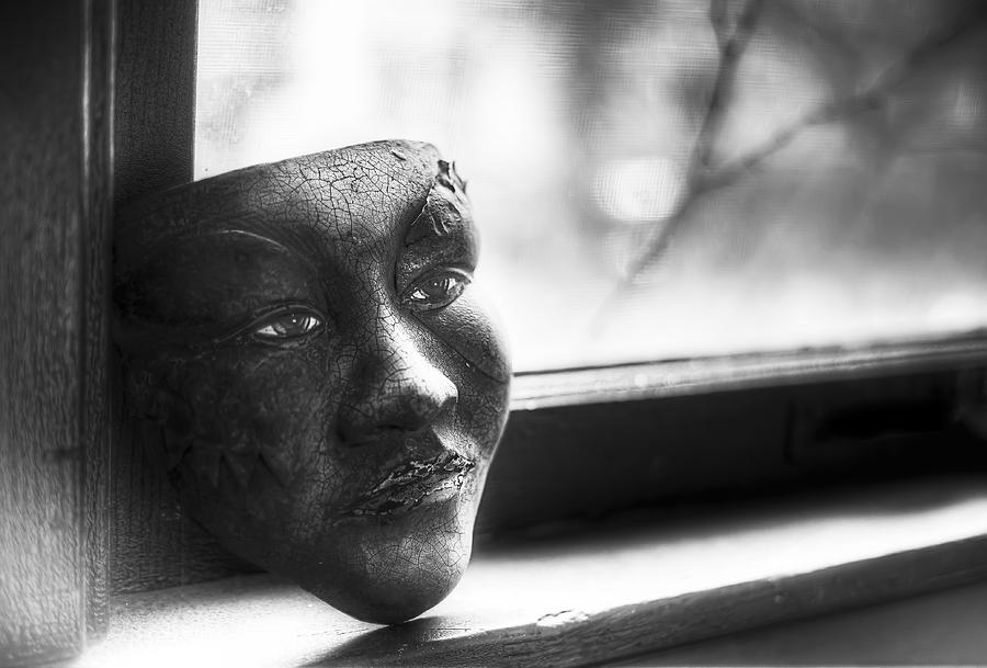 Black And White Photograph - The Mask by Scott Norris