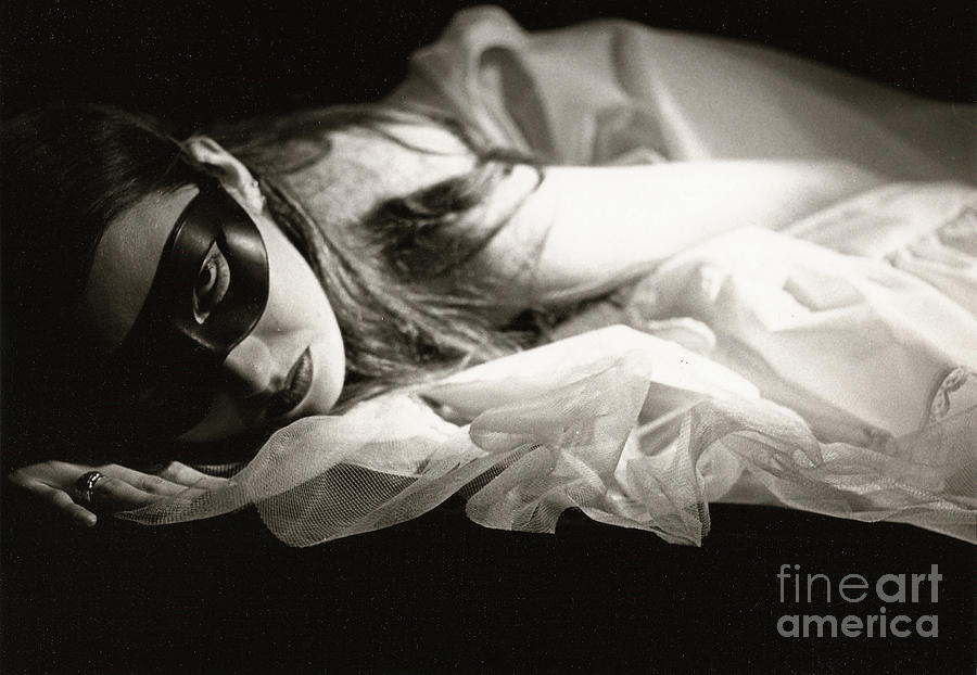 Masked Woman Photograph - The Masked Woman by Sharon Coty