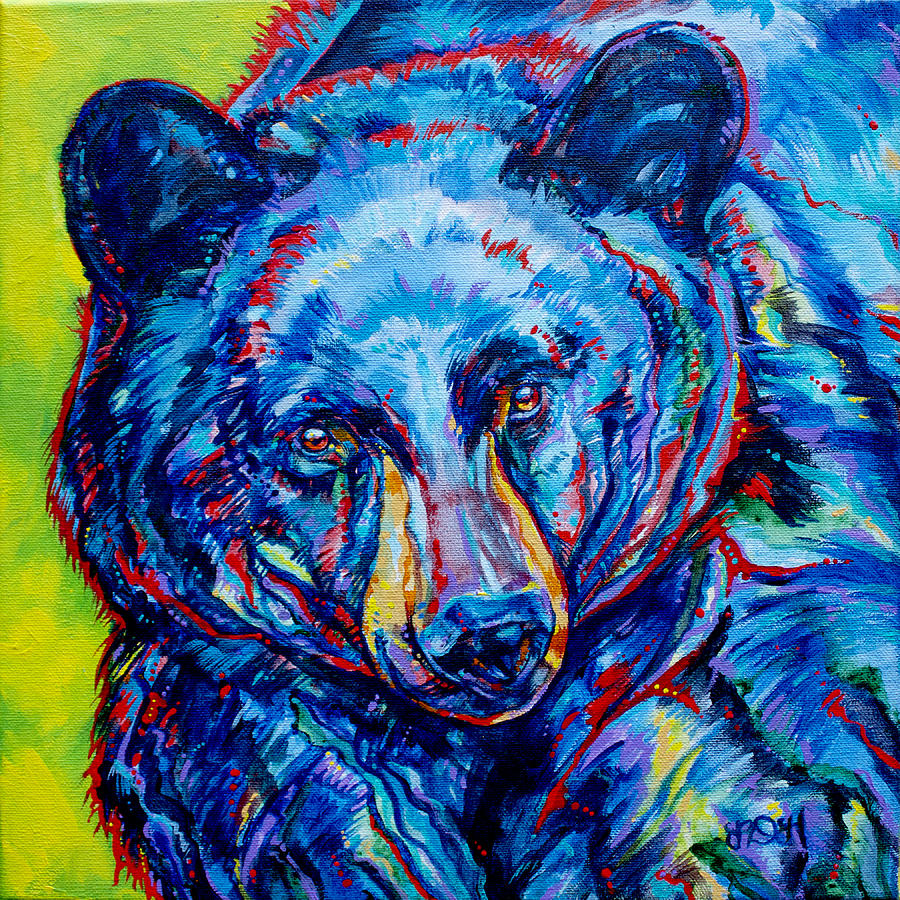 Bear Painting - The Matriarch by Derrick Higgins