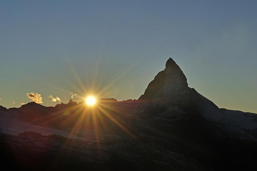 The Matterhorn At Sunset Switzerland Photograph by Thomas Marent