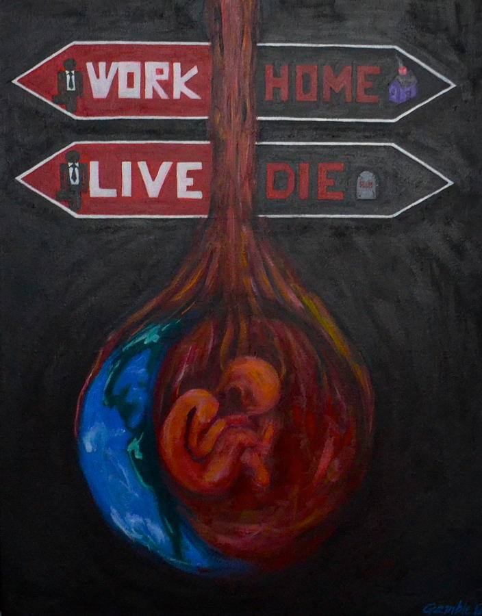 The Meaning Of Life Painting By Vykky Gamble
