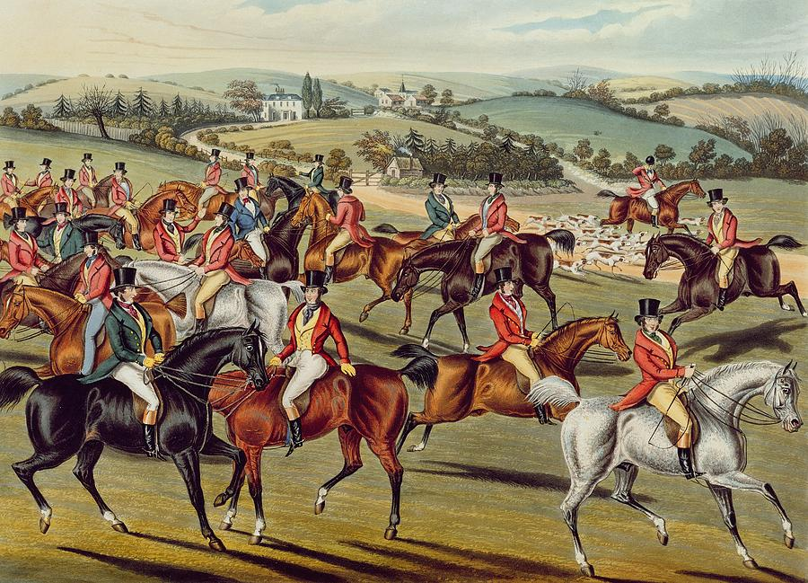 Fox Hunt Painting - the Meet Plate I From fox Hunting by Charles Senior Hunt