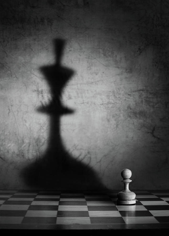 Chess Photograph - The Megalomania (an Improved Version) by Victoria Ivanova