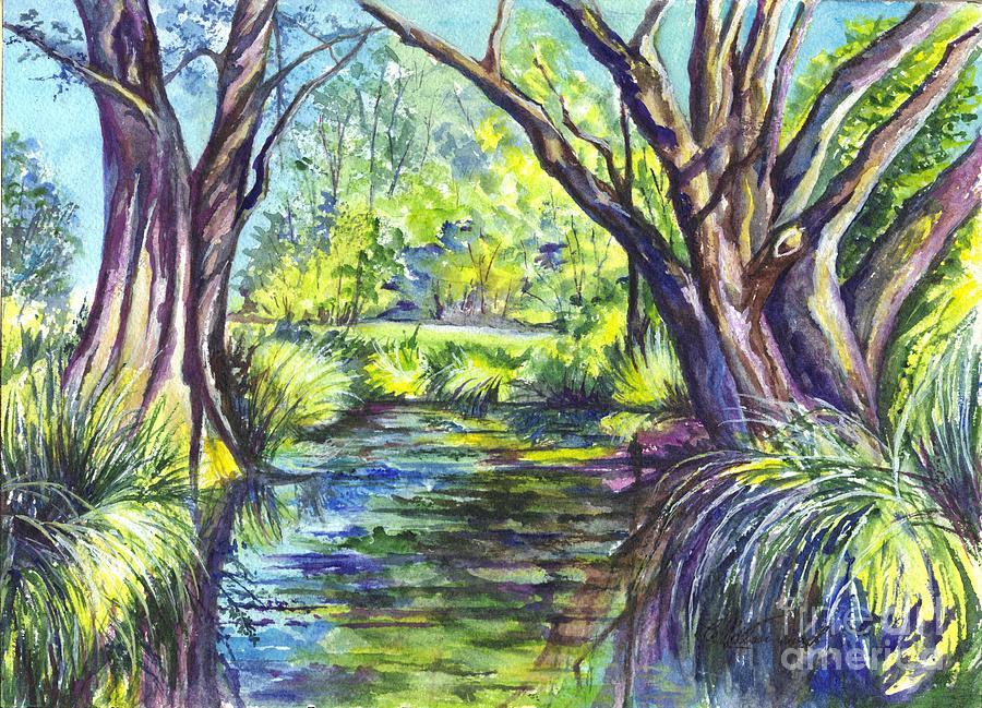 Melaleuca Painting - The Melaleucas by Carol Wisniewski