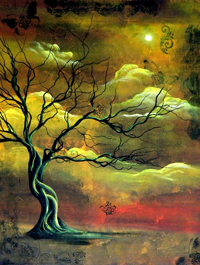 Tree Painting - The Memory Tree by Angie Phillips