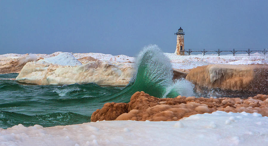 The Mermaid Tail and the Manistee Lighthouse Landscape by Steve White