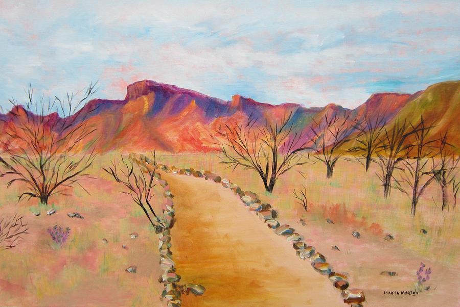Mesquite Painting - The Mesquite Trail Arizona by Marita McVeigh