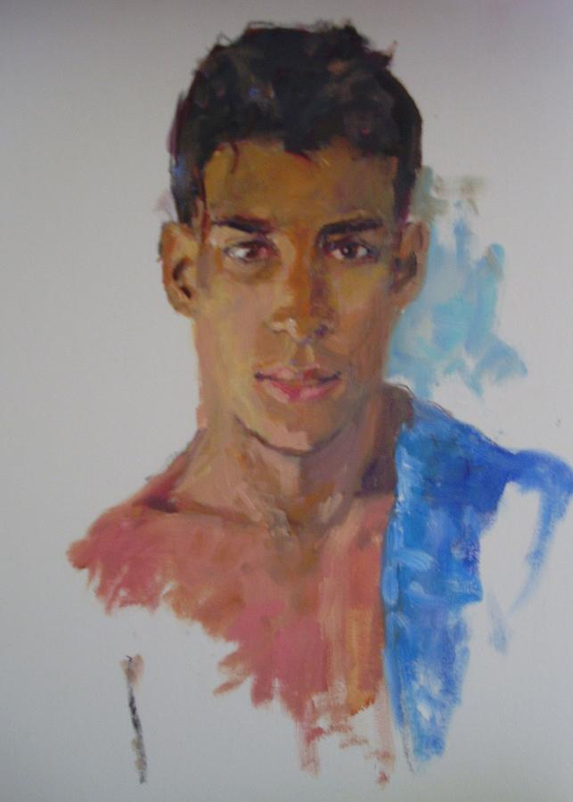 Oil Portrait Painting - The Mexican by Todd Taro