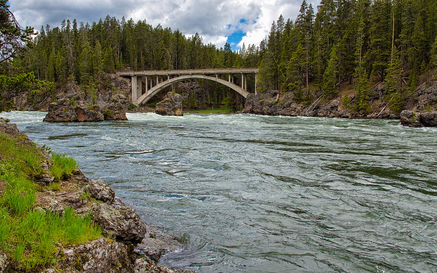 The Mighty Rushing Yellowstone River by John M Bailey