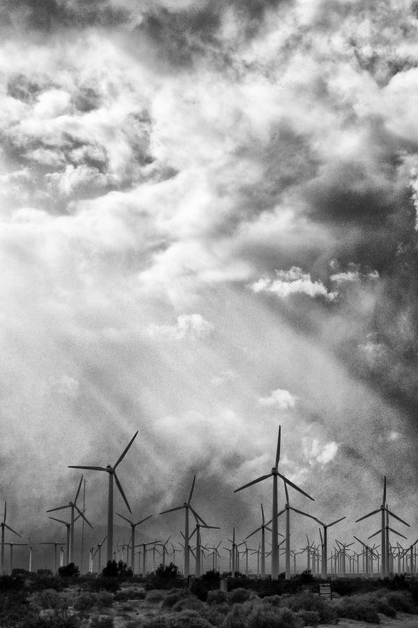 Windmills Photograph - The Mighty Wind Palm Springs by William Dey