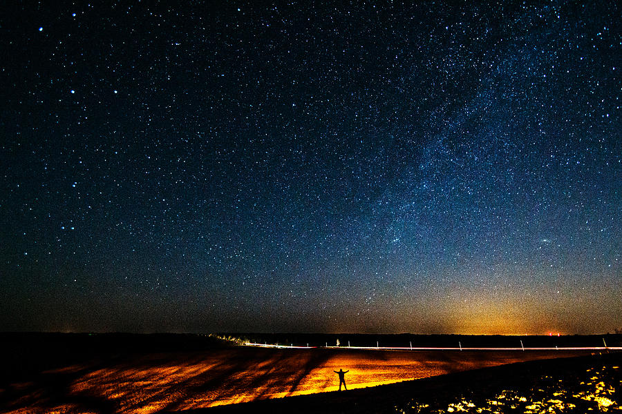 Matt Molloy Photograph - The Milky Way And My Shadow by Matt Molloy