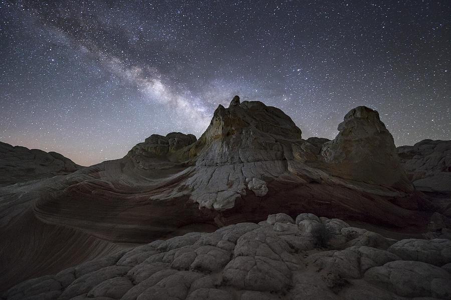 The Milky Way at White Pocket, Arizona, USA Photograph by David Clapp