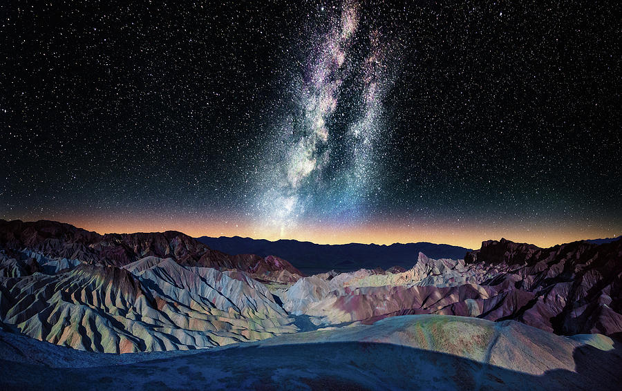 The Milky Way Over Zabriskie Point Photograph by Matt Anderson Photography