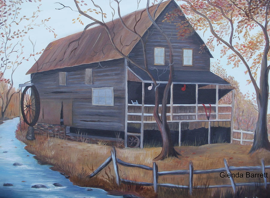 Original Painting - The Mill by Glenda Barrett
