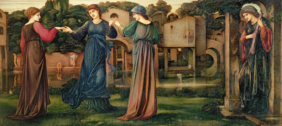 The Mill Painting - The Mill by Sir Edward Burne-Jones