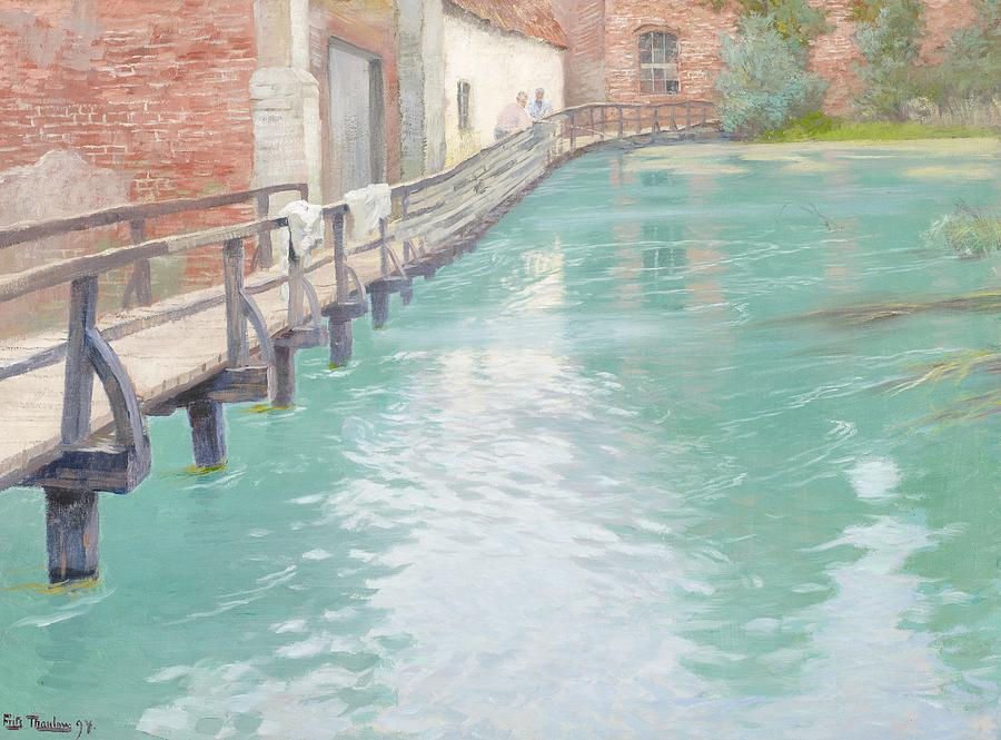 Mill Painting - The Mills At Montreuil Sur Mer Normandy by Fritz Thaulow