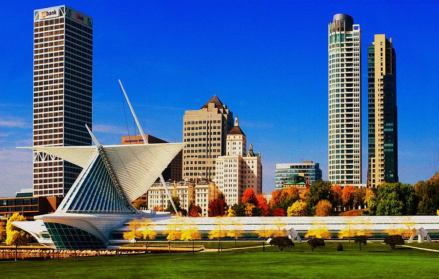 Milwaukee Painting - The Milwaukee Art Museum by Jack Zulli
