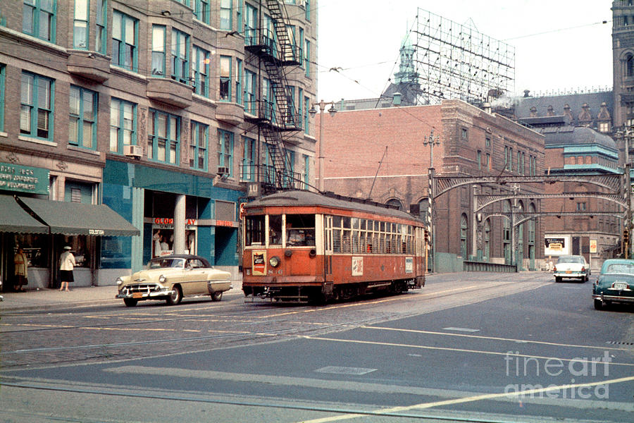 The Milwaukee Electric Railway Trolley 836 In 1956 Photograph
