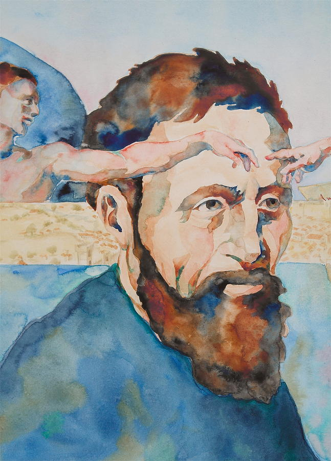 Michelangelo Buonarroti Painting - The Mind Of Michelangelo by Michele Myers