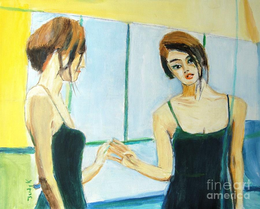 Dancer Painting - The Mirror Has Two Faces by Judy Kay