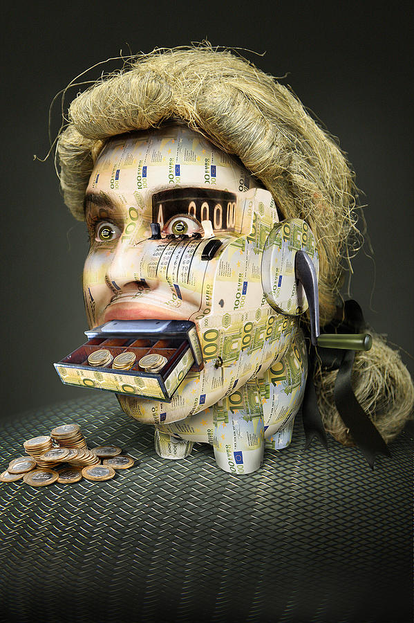 Money Photograph - The Miser Molier by Ddiarte