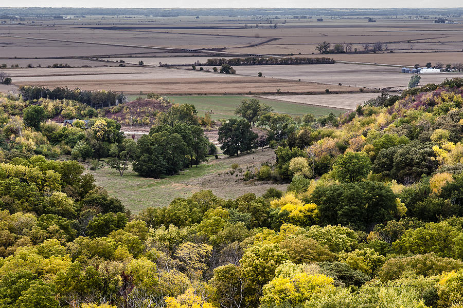 Fall Photograph - The Missouri River Valley by Edward Peterson