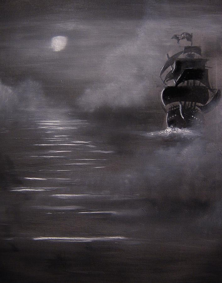 Ocean Painting - The Mist by Eugene Budden