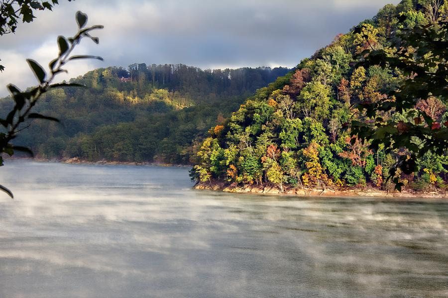 Autumn Photograph - The Mists Of Watauga by Tom Culver