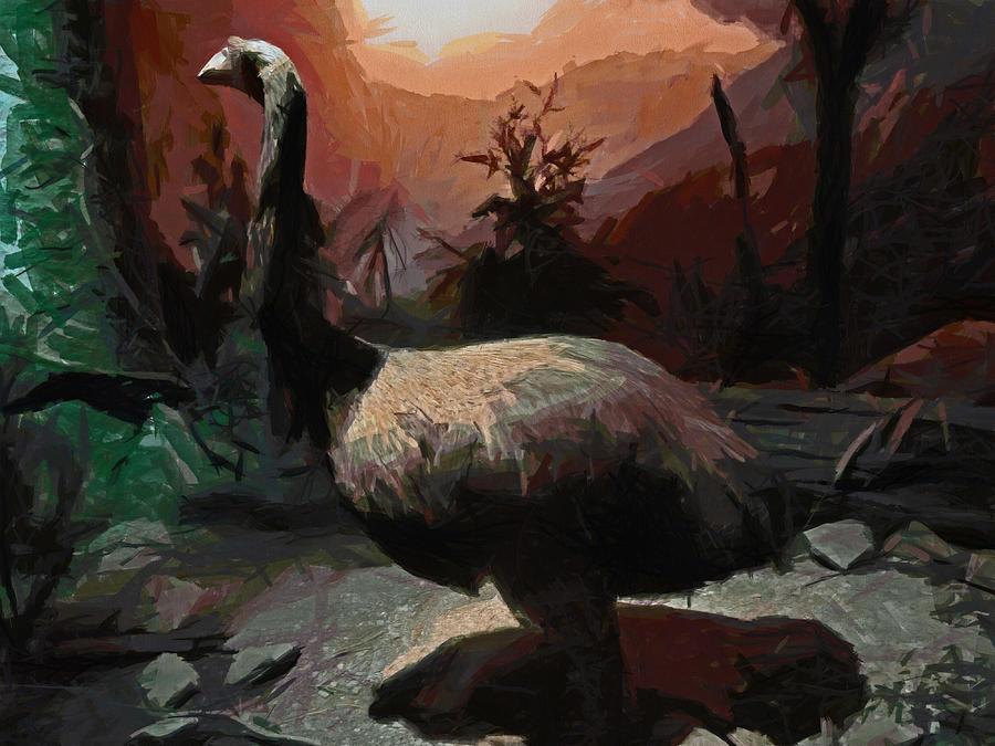 Moa Digital Art - The Moa by Steve Taylor