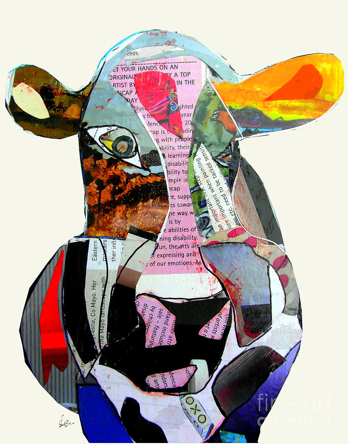 Cow Painting - The Mod Cow by Bri Buckley