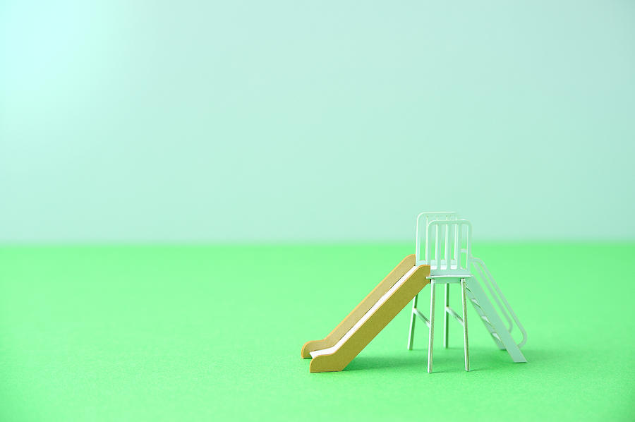 The Model Of The Slide Made Of The Paper Photograph by Yagi Studio