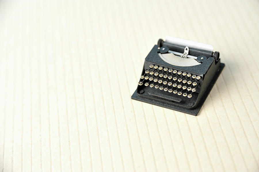 The Model Of The Typewriter Made Of The Photograph by Yagi Studio