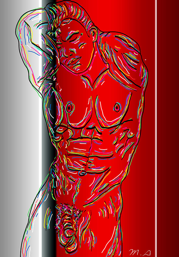 Male Nude Digital Art - The Modern Man 3 by Mark Ashkenazi