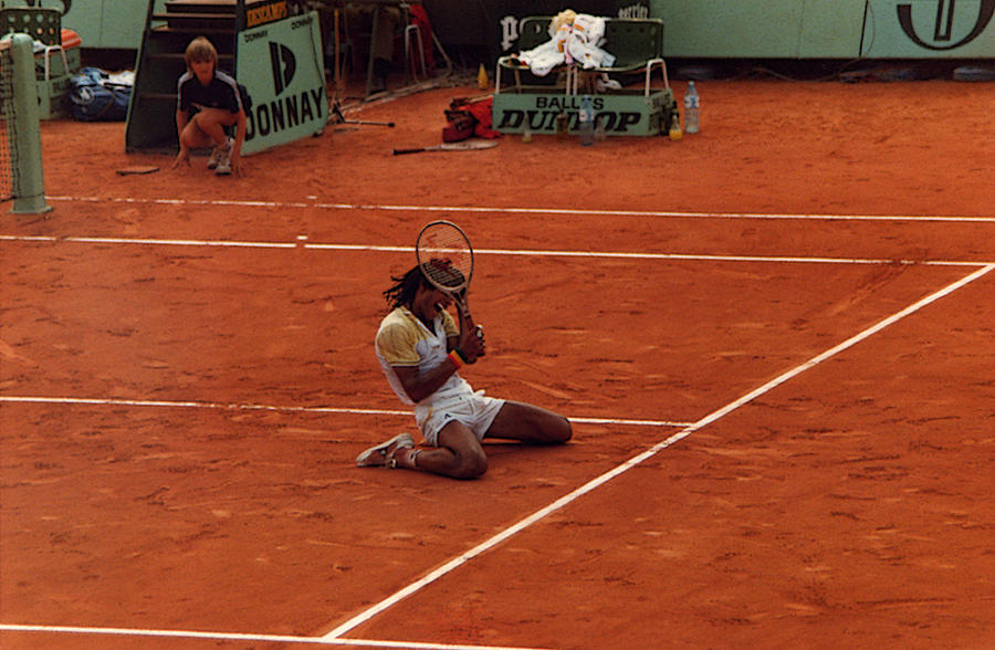 Yannick Noah Photograph - The Moment Of Victory by Scarebaby Design