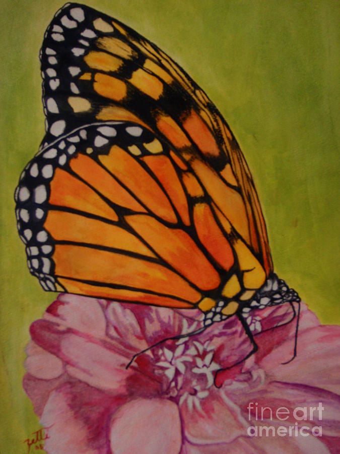Butterfly Painting - The Monarch by Suzette Kallen