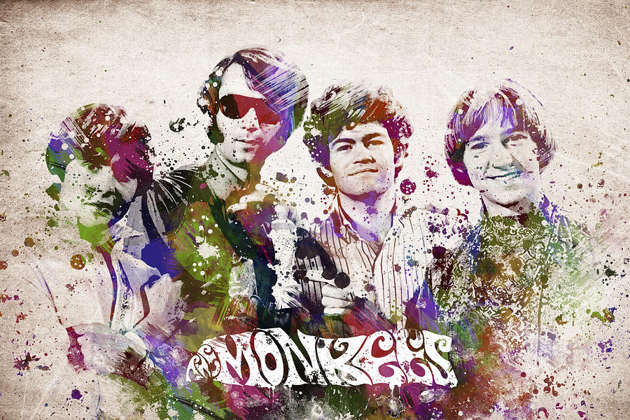 The Monkees Digital Art - The Monkees by Aged Pixel