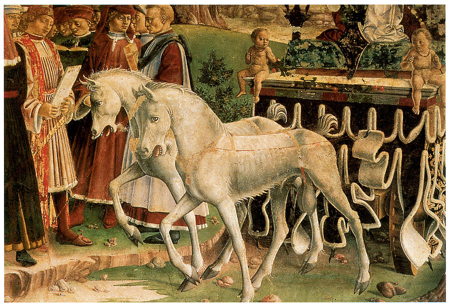 Francesco Del Cossa Painting - The Month Of March by Francesco Del Cossa