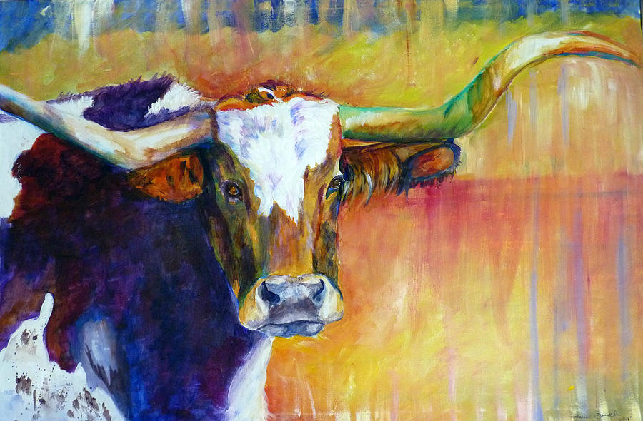 Cow Painting - The Montrose Longhorn by P Maure Bausch