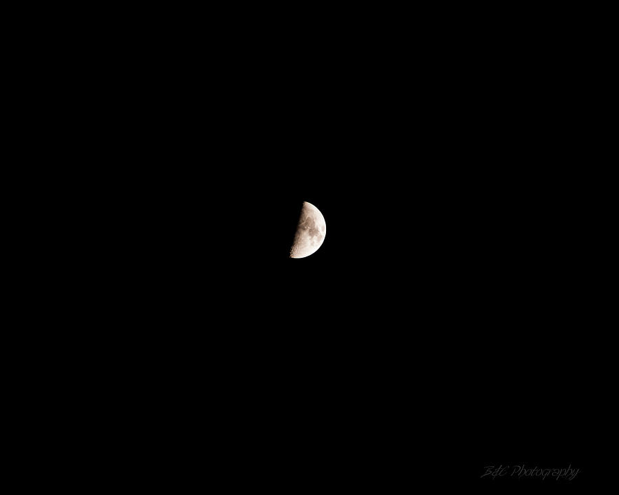 Moon Photograph - The Moon by BandC  Photography