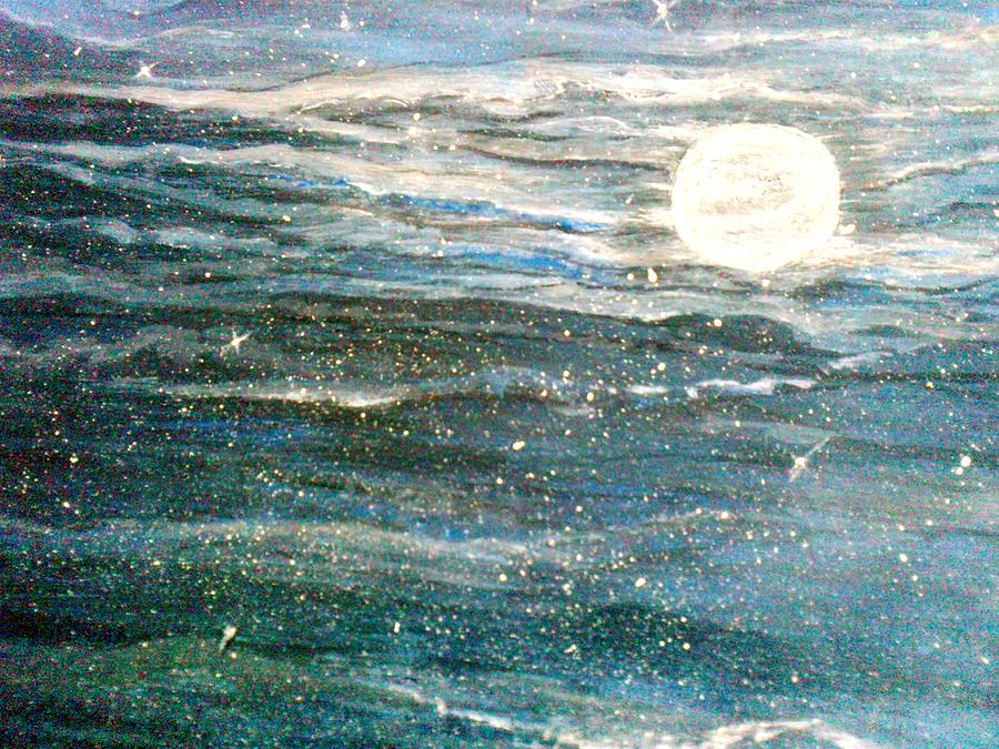 Moon Painting - The Moon Charm by Karunita Kapoor
