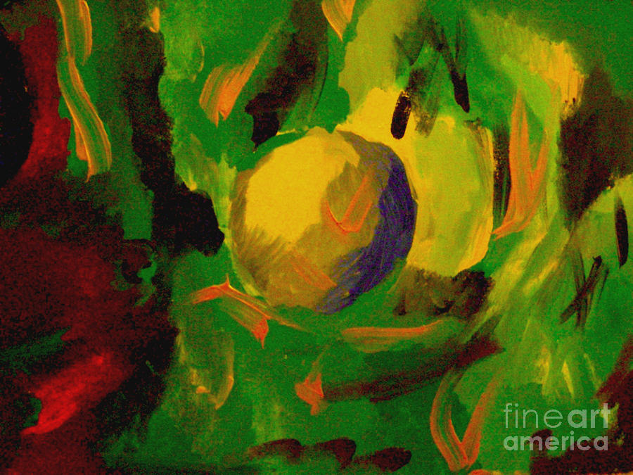Abstract Painting - The Moon by Sidney Holmes