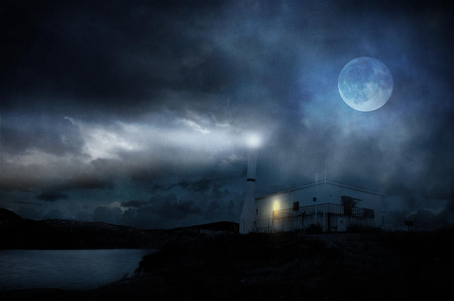 Seascape Photograph - The Moon Touches Your Shoulder by Taylan Apukovska