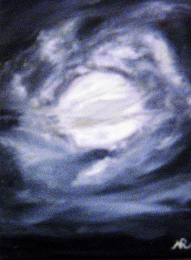 Oil Painting Painting - The Moon Was Caught In A Vortex by Nicla Rossini