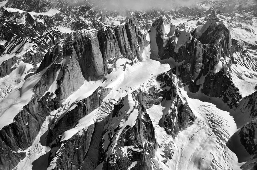 Mooses Tooth Photograph - The Mooses Tooth Alaska by Alasdair Turner