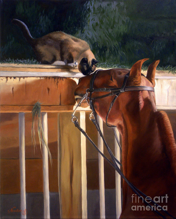 American Saddlebred Painting - The Morning Buzz by Jeanne Newton Schoborg